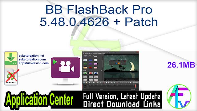 BB FlashBack Pro 5.48.0.4626 + Patch