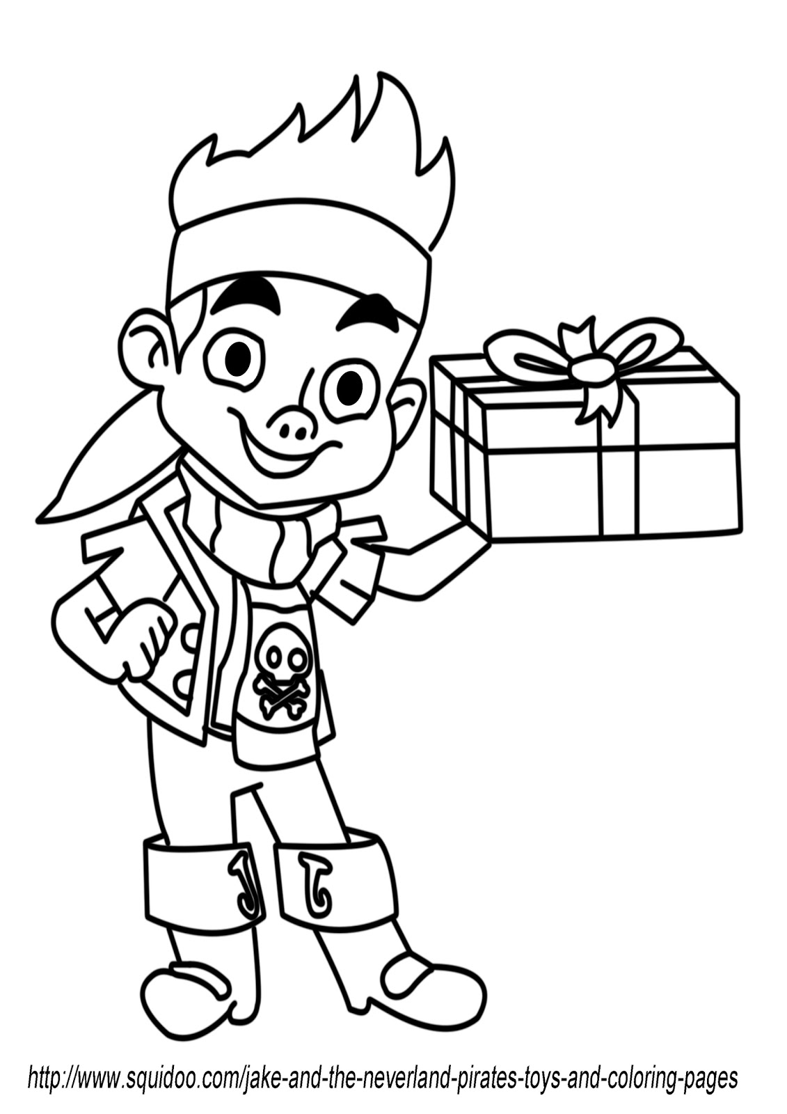 Jake and the neverland pirates toys and coloring pages for Jake the pirate coloring pages