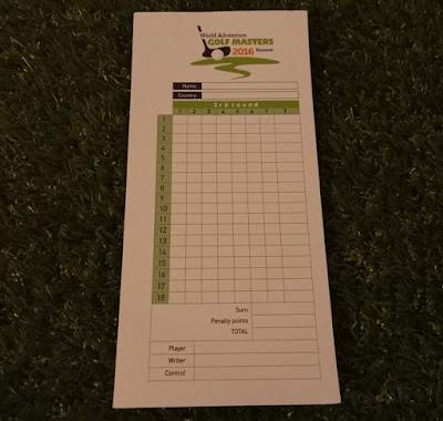 Scorecard from the World Adventure Golf Masters 2016 at Prishtina Pro Mini Golf in Kosovo