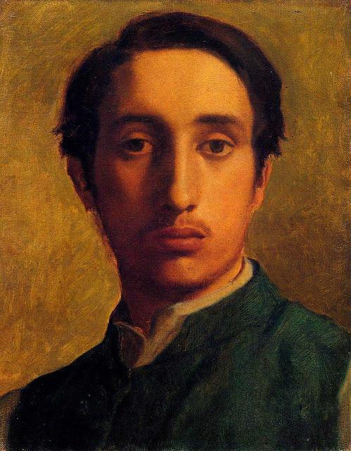 Эдгар Дега - Автопортрет в зелёном жакете (1855-1856)