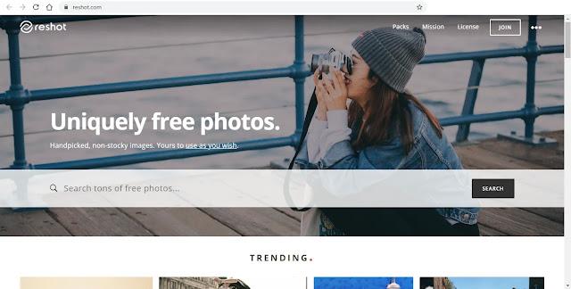 موقع ريشوت Reshot هو موقع صور مجاني متألق - وظائف ناو