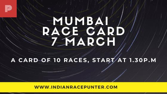 Mumbai Race Card 7 March