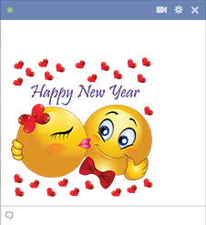 New Year Facebook Sticker