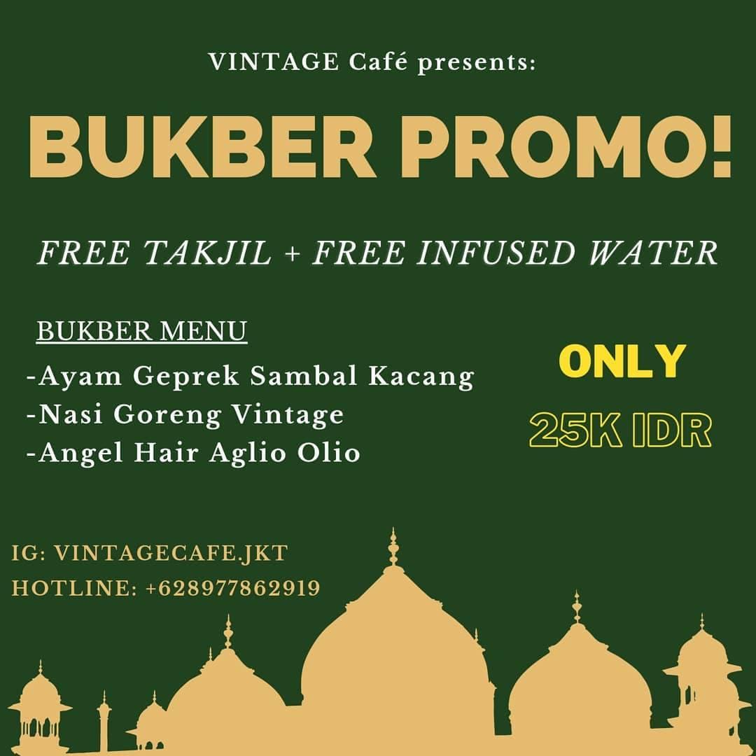 promo bukber ramadhan vintage cafe 2021