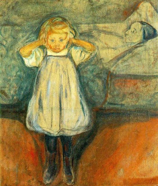 Эдвард Мунк - Мертвая мать. 1900