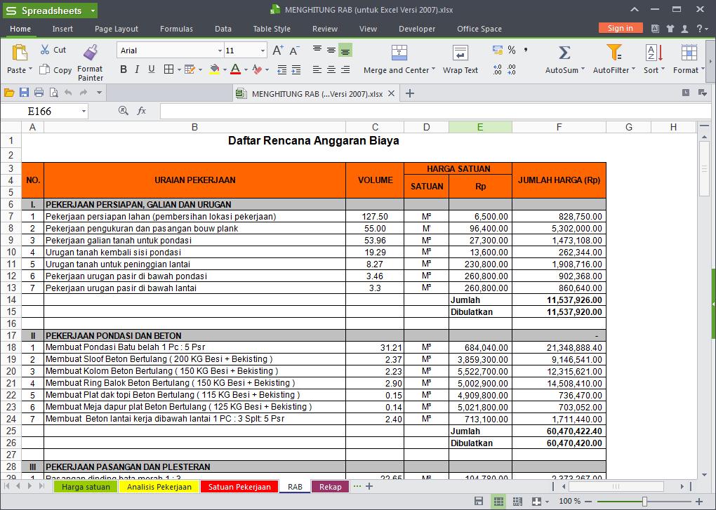 Download Gratis Rab Rumah Excel Auctionsrevizion