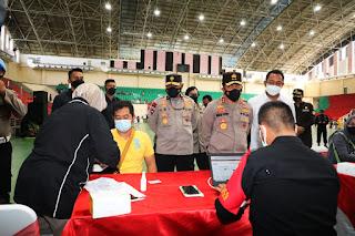 Kapolda Jateng Sanggupi Tantangan Jokowi Peningkatan Vaksinasi dua kali lipat