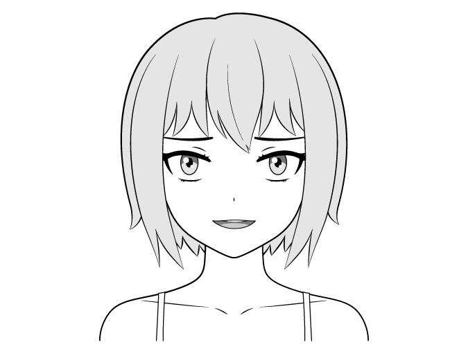 Gambar wajah penindasan gadis nakal anime