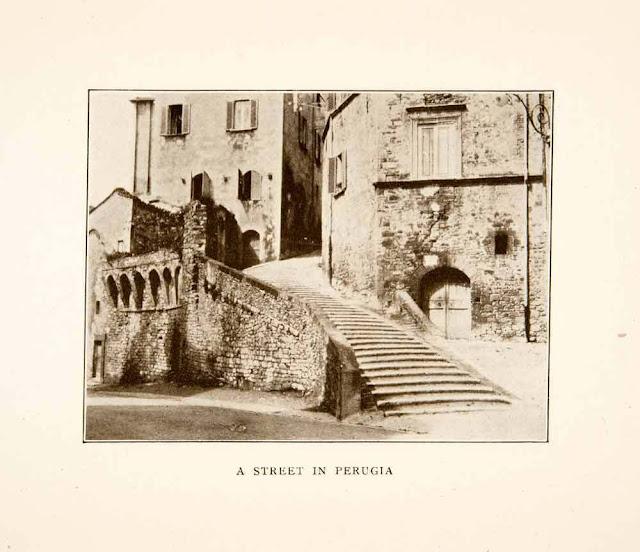 1907. Perugia, Umbria, Italy - Print
