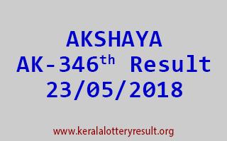AKSHAYA Lottery AK 346 Result 23-05-2018