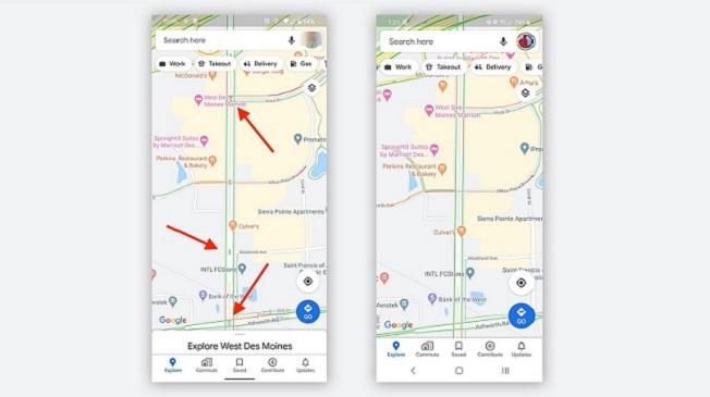 Semáforos são mostrados como pequenos pontos no navegador do Maps/Reprodução