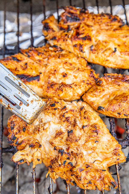 chicken on the grill