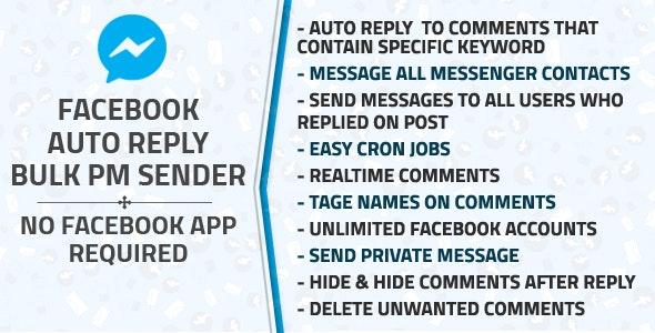 Download Facebook Auto Reply & Bulk Private Message