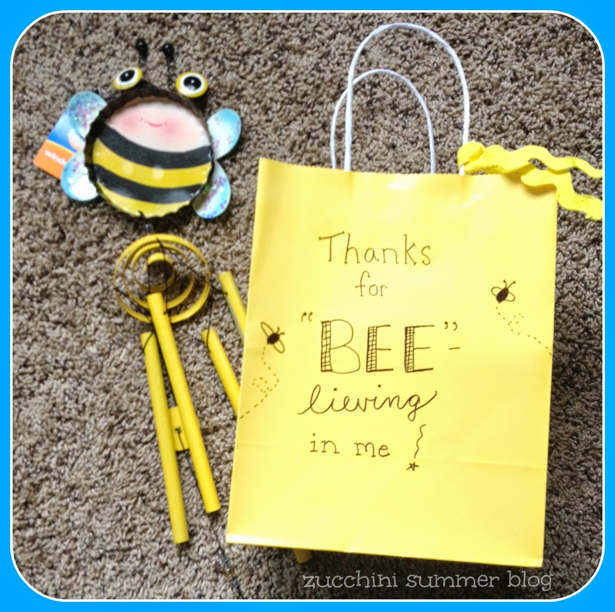 bee windchime, beelieving in me gift, gift wrap, teacher gift, student teacher gift, student teacher cooperating teacher gift, school of education gift, academic advisor gift, teacher graduation gift, wind chime, cvs wind chime, under $10 gift, principal gift, dance instructor gift, gymnastics coach gift