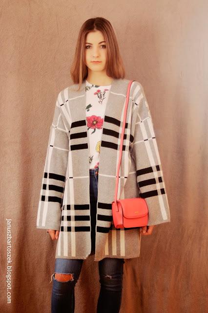 jak nosić kardigan typu kimono?