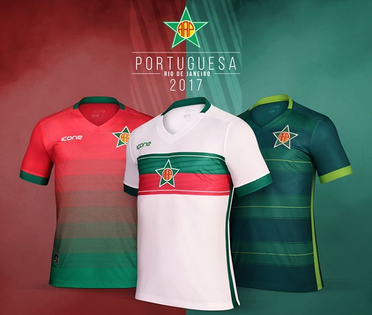 Ícone Sports lança as novas camisas da Portuguesa Carioca - Show de ... 38f04d4d25739