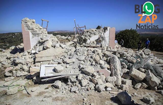 Terremoto em Creta na Grécia