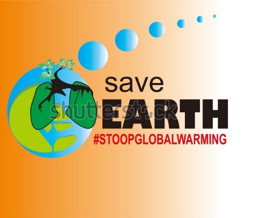 earth illustration save earth