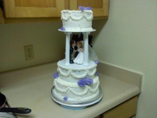 3 Tier Wedding Cake With Pillars