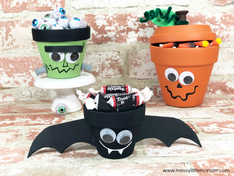 Halloween clay pot crafts for kids