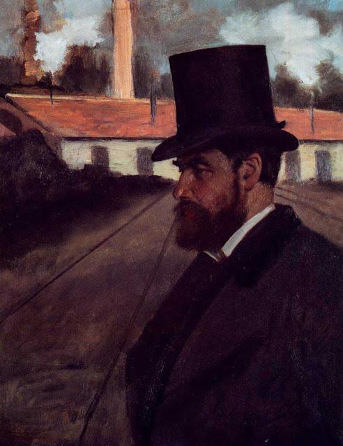 Эдгар Дега - Анри Руарт перед своим заводом (ок.1875)