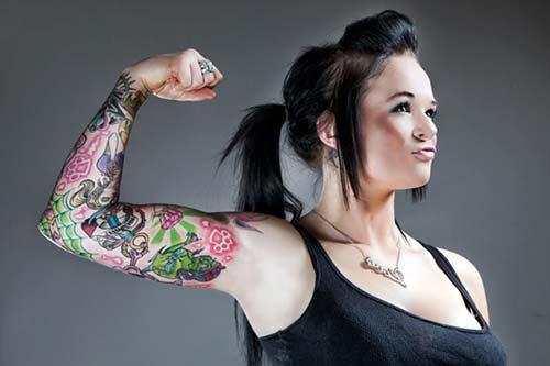 kadın kol dövmeleri ful sleeve tattoo for woman