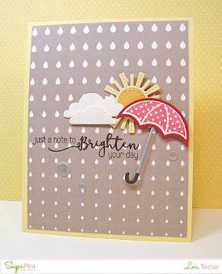 Just a Note to Brighten Your Day card-designed by Lori Tecler/Inking Aloud-stamps and dies from SugarPea Designs
