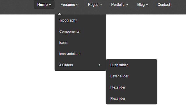 3-Level Responsive Drop Down Navigation Menus with jQuery CSS3