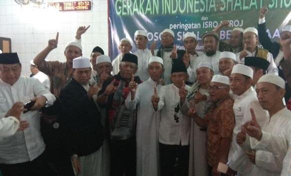 Amien Rais Berserta Jemaah Salat Subuh di Mampang Ucap Baiat ke Habib Rizieq