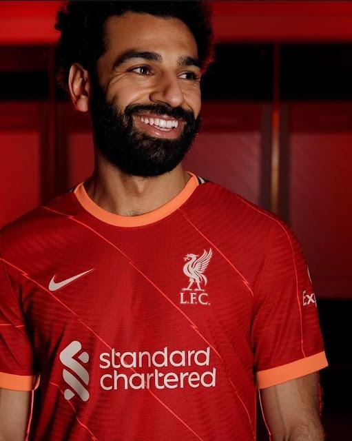 محمد صلاح بقميص ليفربول الجديد للموسم المقبل 2022