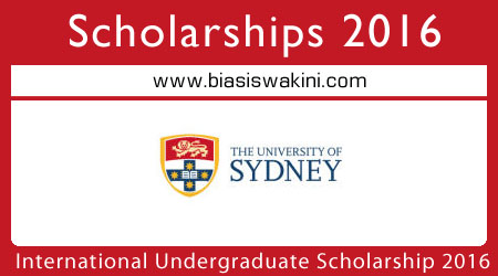 International Undergraduate Scholarships 2016
