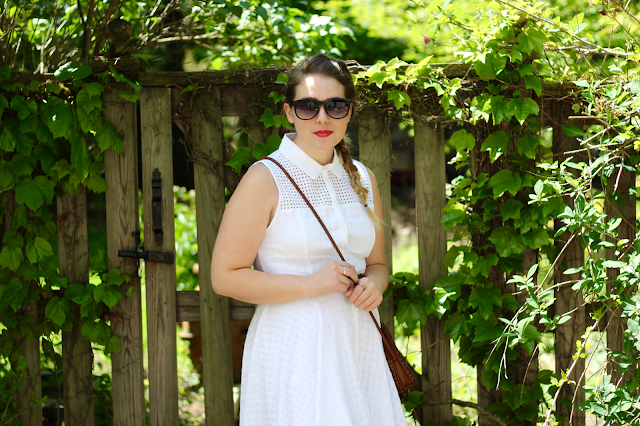White Eyelet Shirtdress 2