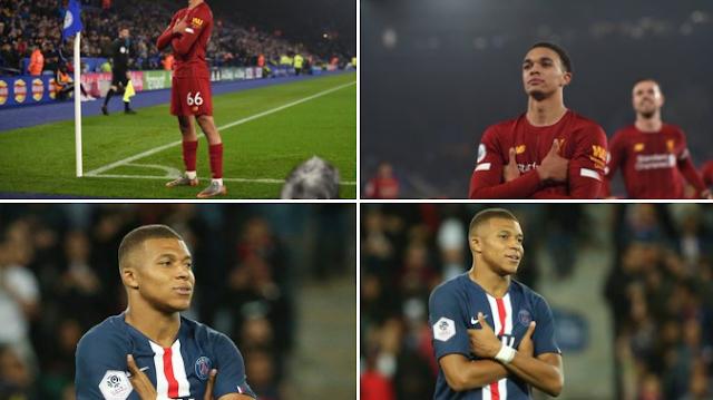 Mbappe responds to Alexander-Arnold celebration after Liverpool goal against Leicester