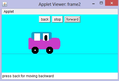To draw and move a Car in java Graphics and control it using