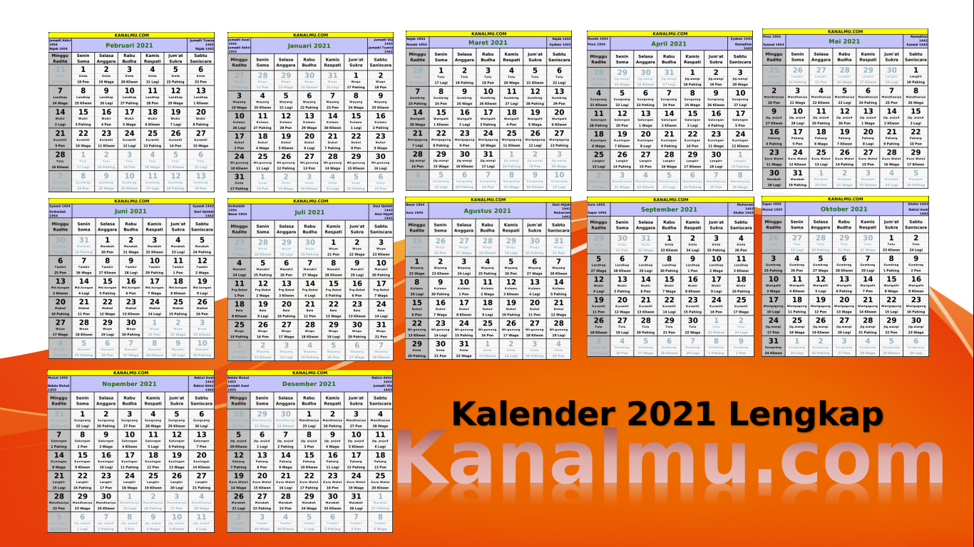 Kalender Tahun 2021 Indonesia Lengkap Jawa Hijriyah Template Format Cdr Siap Edit Kanalmu