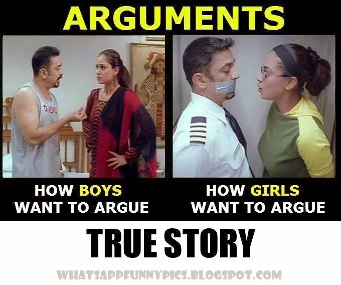 how girls argue with boys funny pictures whatsapp funny pics