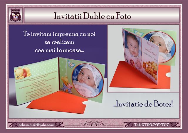 invitatii botez dubla