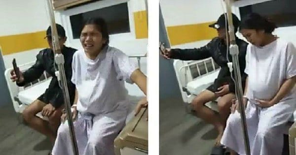Viral, Istri Mengerang Sakit Akan Melahirkan, Suami Malah Tertawa dan Ajak Selfie
