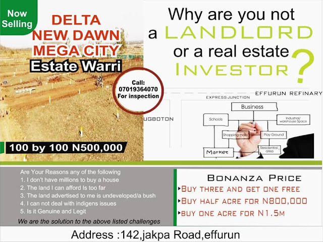 buy plot of land in Warri