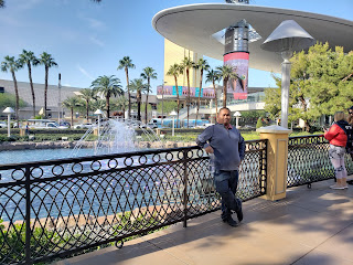 Me outside the Wynn Hotel Las Vegas Nevada