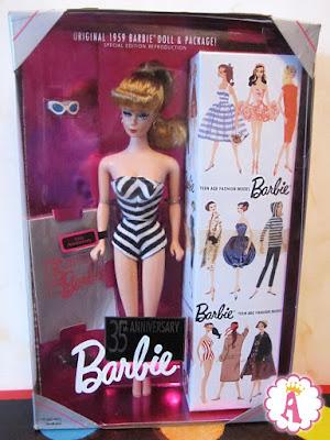 Барби в купальнике Original Barbie 1959 Reproduction