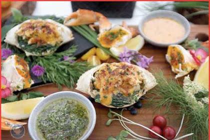 Resep Kepiting Rockefeller saus Hollandaise ala The 18th Restaurant