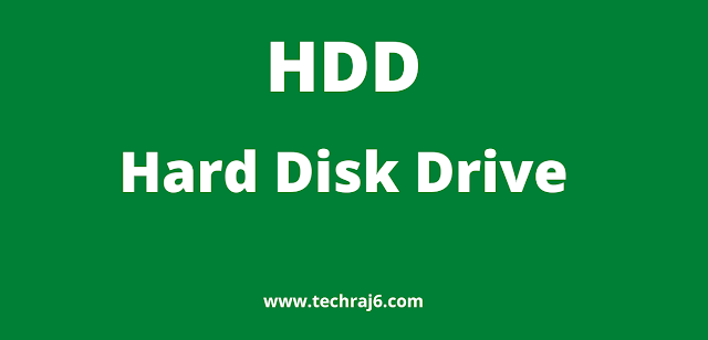 HDD full form,what is the full form of HDD