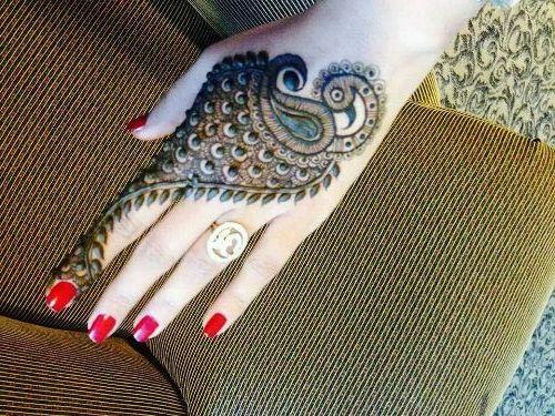 Mehndi Henna Designs Peacock : Best peacock henna mehndi designs bling sparkle