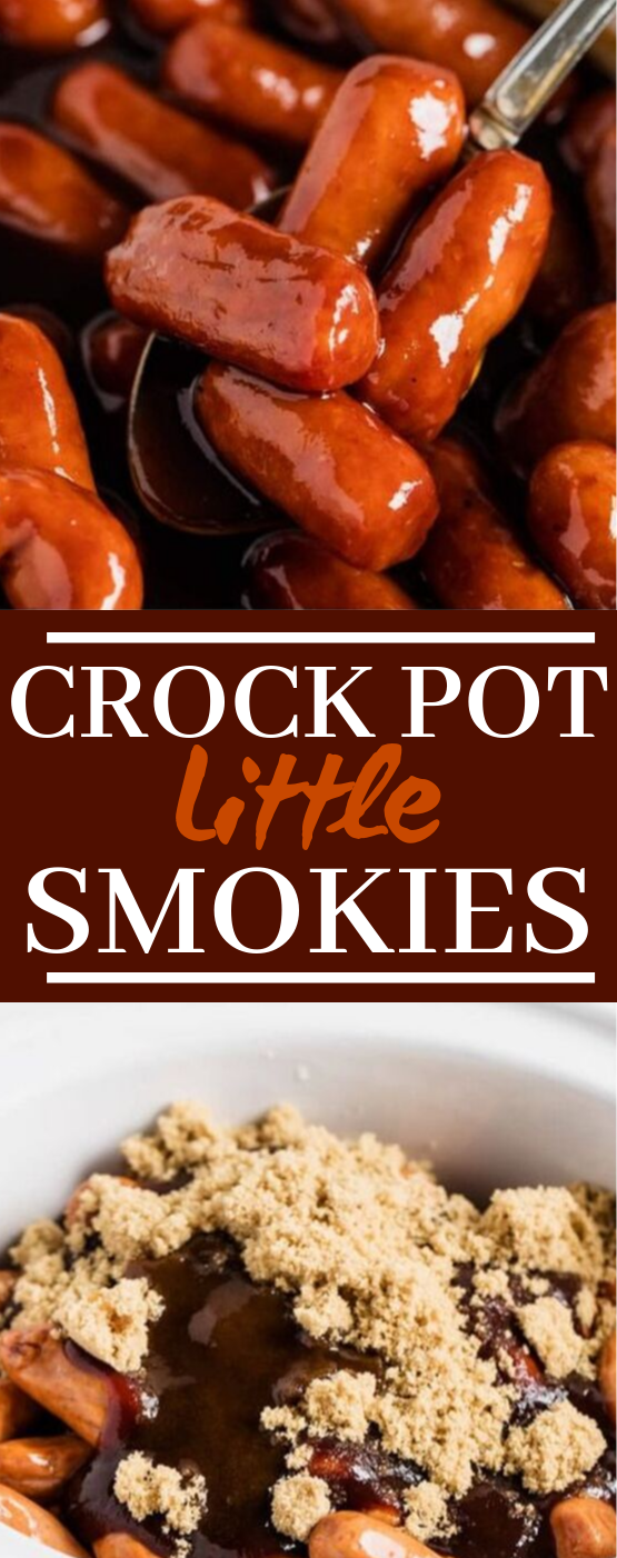 Crockpot Little Smokies #appetizers #dinner
