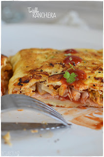 Tortilla Ranchera: Receta de Crepes salados- Crepes de pollo- Receta de Crepes salados- Crepes salados