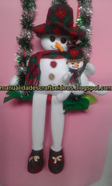 Muñeco de nieve para decorar en Navidad