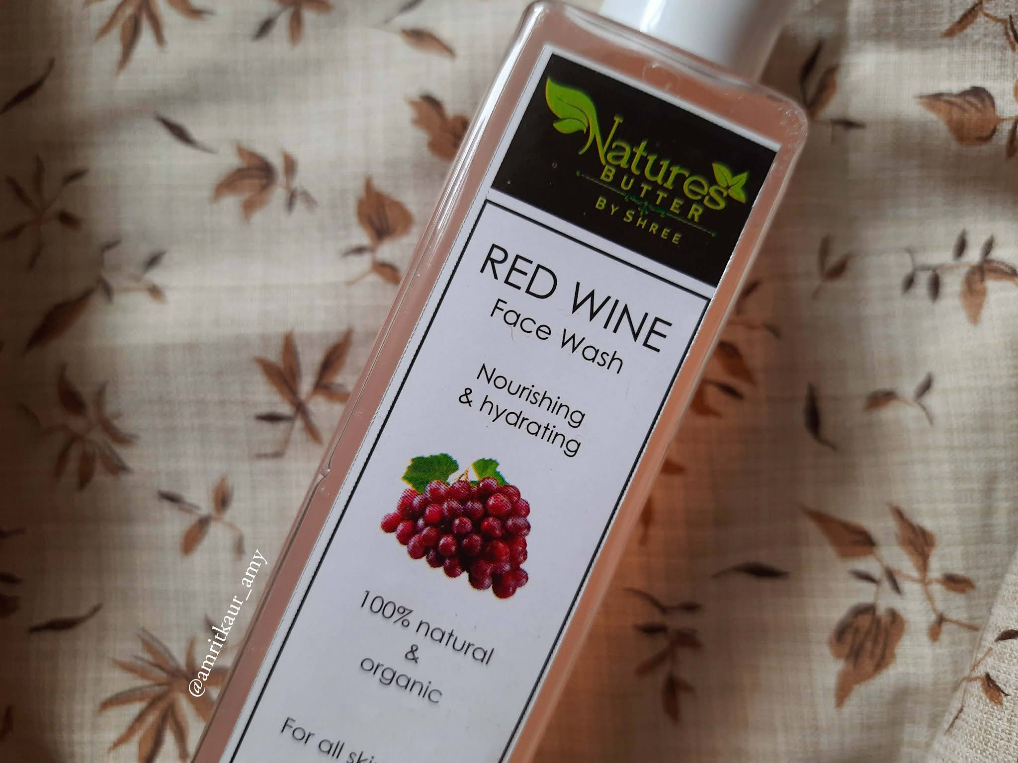 Natures Butter by Shree Red Wine Face Wash