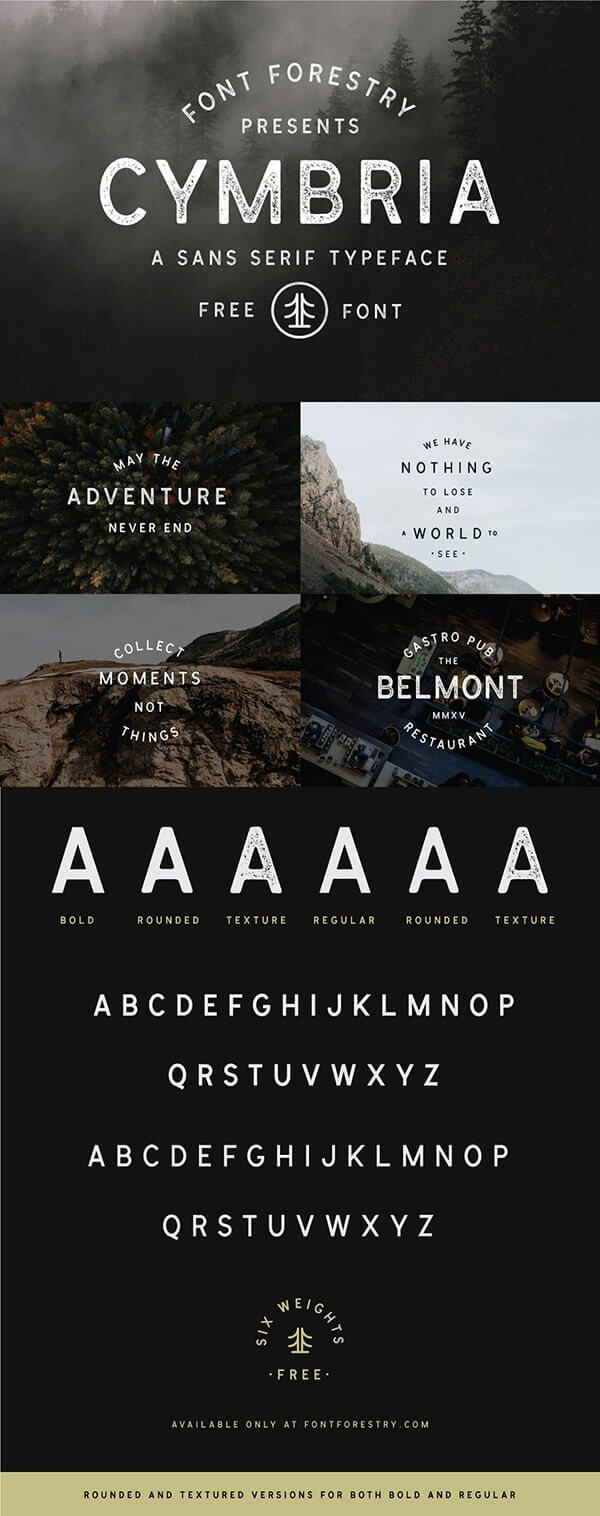 Download Gratis Sans Serif Komersial Font - Cymbria Typeface