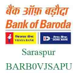 Vijaya Baroda Saraspur Branch Ahmedabad New IFSC, MICR